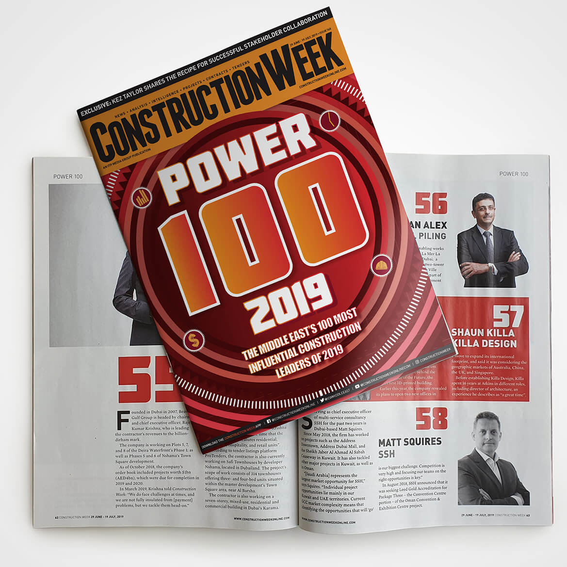 SSH's Matt Squires Climbs 11 Places in the 2019 Construction Week Power 100