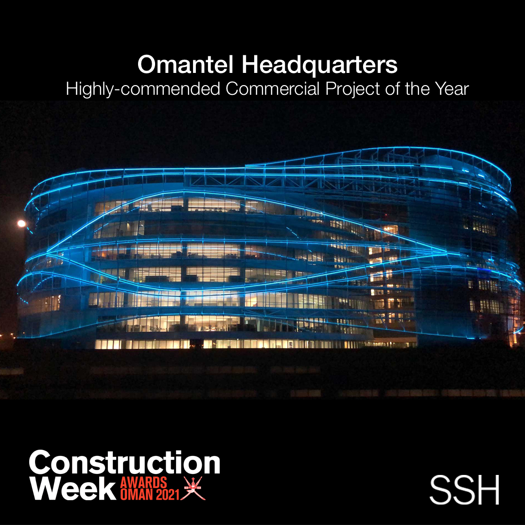 Omantel Headquarters awarded highly commended Commercial Project